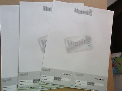 10 Atlantic City HARRAH'S HOTEL & CASINO STATIONARY FOR BILLS & GUEST CARDS #9