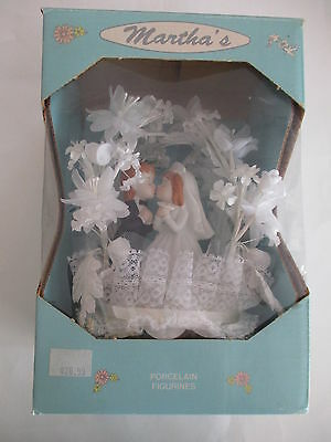 Vintage Wedding Cake Topper Porcelain Couple Martha's ORIGINAL BOX UNUSED