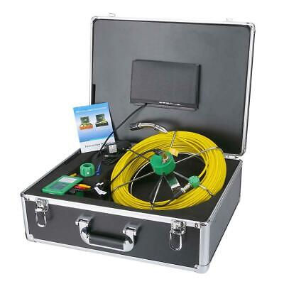 """7""""LCD DVR Recorder Video Camera 20M Drain Pipe Sewer Inspection 8GB SD 6W LED"""