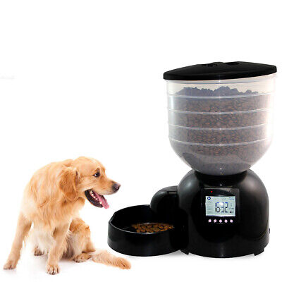 Automatic Pet Dog Feeder 11L Dog Food Dispenser Food Bowl for Cats Dogs Z7N3
