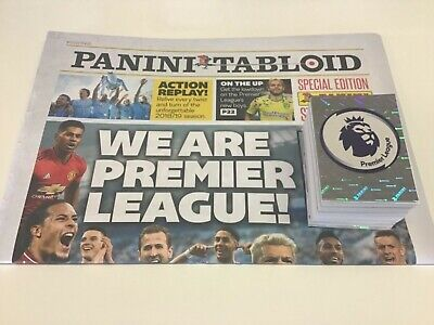 Panini Tabloid Premier League 2019 Empty Album + 80 Different Stickers Mint