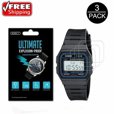 Casio Men's Classic F91W-1 HD Anti-shock Smartwatch LCD Screen Protector