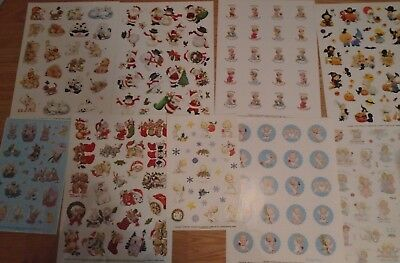 ONE Ruth Morehead Sheet of Stickers Choose from Angels, Animals, Santa or Easter
