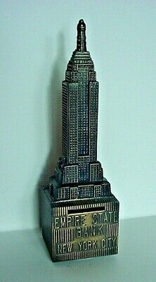 Vintage Metal Empire State Building/New York Still Bank-Excellent Condition