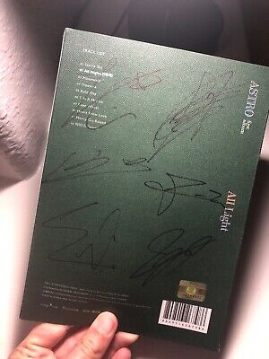 Astro Signed All Members Autographed 1st Album All Light (Mwave) Green *NO PCS*