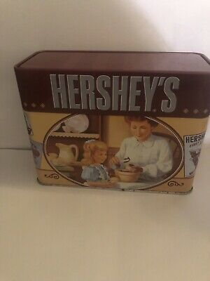 Vintage Hersey Tin With  Recipes