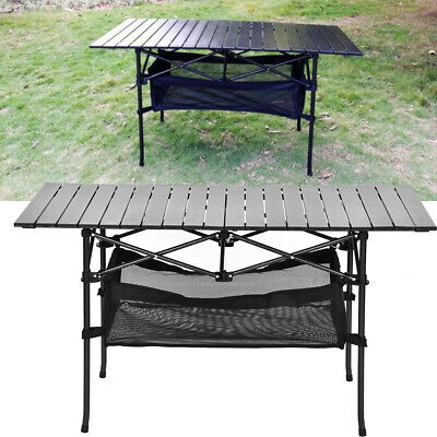 Folding Table Heavy Duty Trestle Camping Party Picnic BBQ Stall Garden+Net Bag