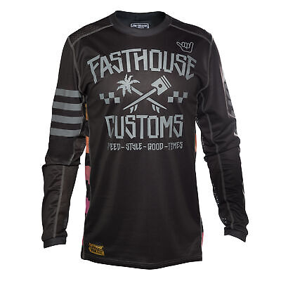 Fasthouse Hawk Mens Jersey Moto - Black Grey All Sizes