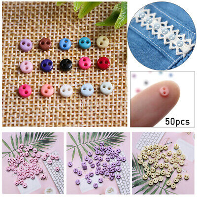 50pcs 4mm Handmade DIY Doll Clothes Mini Buttons For Doll Clothes Accessories