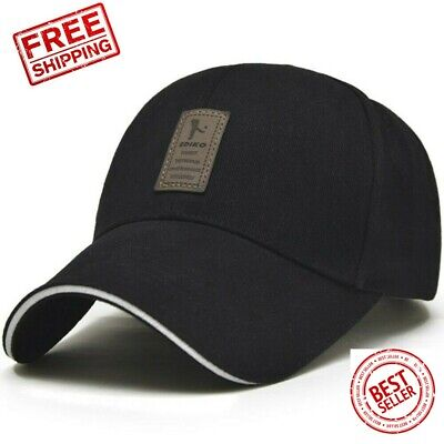 Men's Baseball Hat Adjustable Cap Casual Hats Solid Color Fashion Snapback