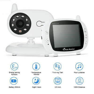 2.4GHz 3.5″ Inch LCD Wireless Video Baby Monitor Camera Night Vision Audio Video
