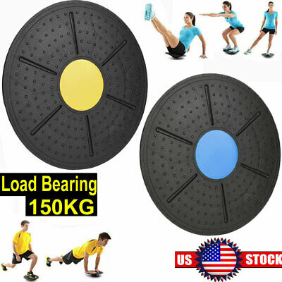 Yoga Fitness Balance Board Disc Gym Stability Training Pro Wobble Pad Physio USA