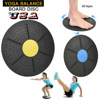 Pro Wobble Balance Board Stability Disc Yoga Training Muscle Fitness Exercise US