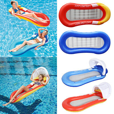 New Inflatable Sun Lounger Swimming Pool Air-Bed Seat/Chair Lilo Back Rest