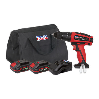 CP20VDDKIT Sealey Hammer Drill/Driver Kit 13mm 20V - 2 Batteries [Drills]