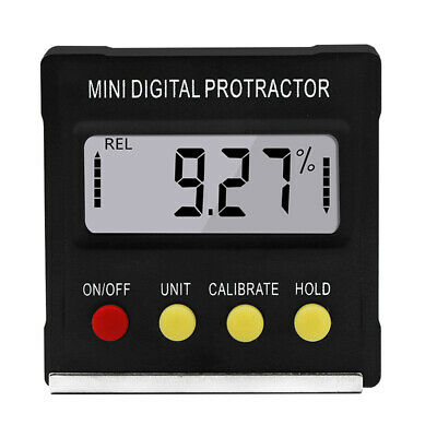 LCD Digital Mini Electronic Inclinometer Level Meter Angle Finder Protractor