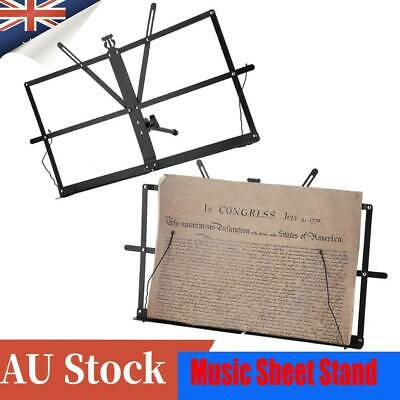 Portable New Folding Adjustable Music Sheet Stand Professional Stage Black