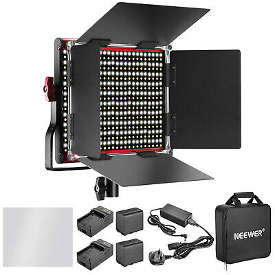 Neewer Dimmable Bi-color 660 LED Video Light Lighting Kit with Charger