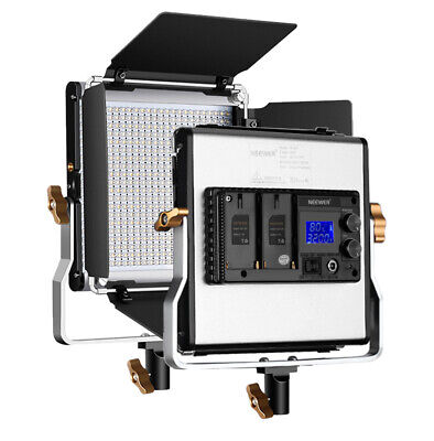 Neewer Upgraded 480 LED Panel Bi-color Dimmanable LED Light with LCD Screen