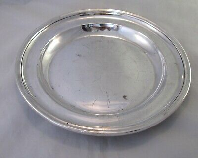 A Good Heavy Silver Plated Dinner Plate by Mappin & Webb c1900