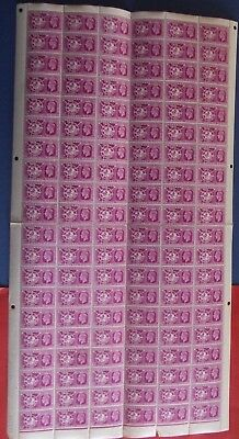 GB KGVI - MNH SG.501 COMPLETE SHEET of 120 - 1949 6D U.P.U.