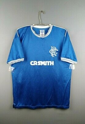 4.3/5 Rangers replica jersey large 1984 1985 home shirt Score Draw soccer ig93
