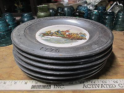Lot Of 6 Great American Revolution Pewter Plates Bicentennial