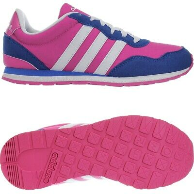 Adidas VS Jog K pink white blue Kids' girls sneakers trainers casual shoes NEW