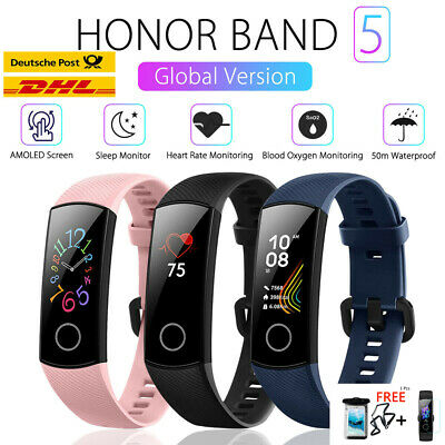 Huawei Honor Band 5 Sleep Heart Rate Monitor 5ATM BT 4.2 Sports Wristband 0.95""