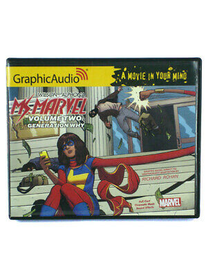 Ms. Marvel Vol 3 Generation Why Audio Book GraphicAudio 6 Hours 6 CDs Marvel New