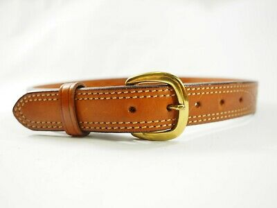 "Galco Fancy Stitched Leather SB10 Belt 32""x 1.25"" wide Brass Buckle"