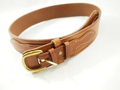 "Galco Casual Stitched Leather SB22 Belt 32""x 1.75"" wide Brass Buckle"