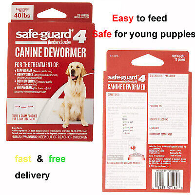 8 in 1 Safeguard 4 Canine Dewormer for Large Dogs 4gm,3-Day Treatment,effective!