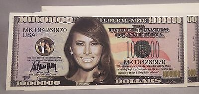 Wholesale Lot Of 100  First Lady Melania Trump Million Dollar Bills Money 2020