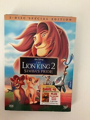 Lion King 2 Simbas Pride DVD w/ slip cover NEW Sealed 2 disc special edition
