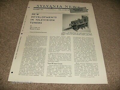 Sylvania News - New Development In Television Tuners Booklet - 1950
