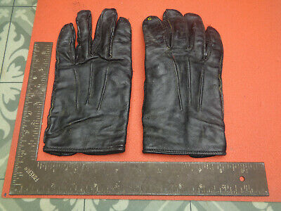 Vintage Ladies black leather gloves LOTCG557XH
