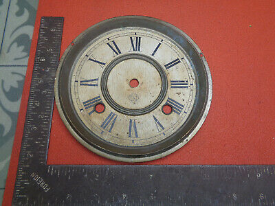 Vintage Ansonia clock face and bezel LOTCOLCR93