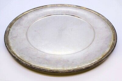 "R Wallace & Sons 925 Sterling Silver 10"" Dinner Sandwich Plate NO MONO 2414"