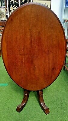 "Victorian mahogany oval fliptop ""loo"" table"