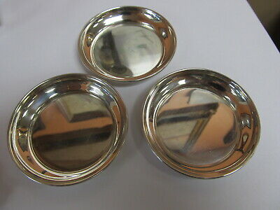 """Gorham Sterling Silver Set 3  # 62 Candy / Nut Dishes / Pats 2 7/8"""" W Xlnt Cond"""