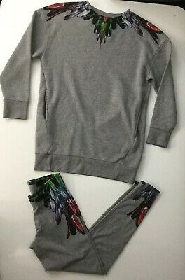 Marcelo Burlon Girls 2 Piece Set, Jumper And Pants, Leggings, Age 10 Yrs, Grey