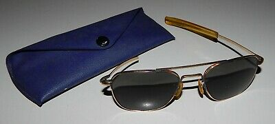 Vintage American Optical AO 1/20 12K GF Gold Aviator Sunglasses 5-1/2 Project