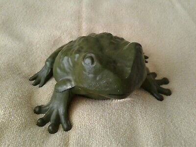 Antique Cast IRON ART JM 84 Bullfrog Bank. Rare Early Bank. All Original.