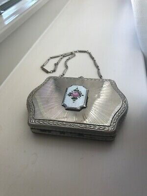 Vintage FMco vanity compact purse. Room for coins, powder/blush and a mirror.