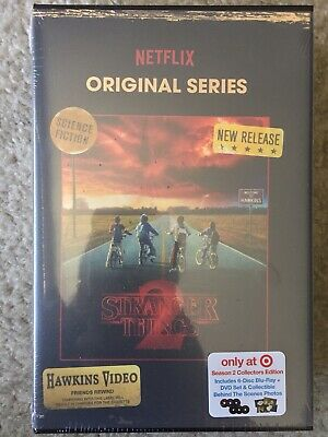 Stranger Things Season 2 Blu Ray Dvd Target Exclusive Vhs Packing + Photos New