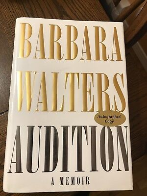 Barbara Walters Autographed Signed Book - Audition - A Memoir  -  1St Hc Dj