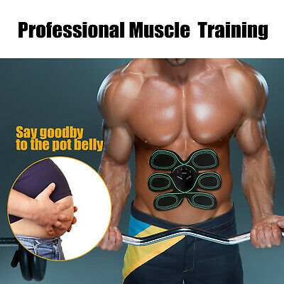 PU Leather Muscle Stimulator Slimming Abdominal Exercisers Body Fitness