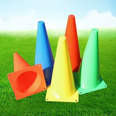 9in Marker Training Cones Tall Sports Traffic Cones Safety Soccer Football Rugby
