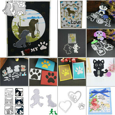Happy Dog Cutting Dies Stencil Scrapbooking DIY Album Embossing Paper Card Craft